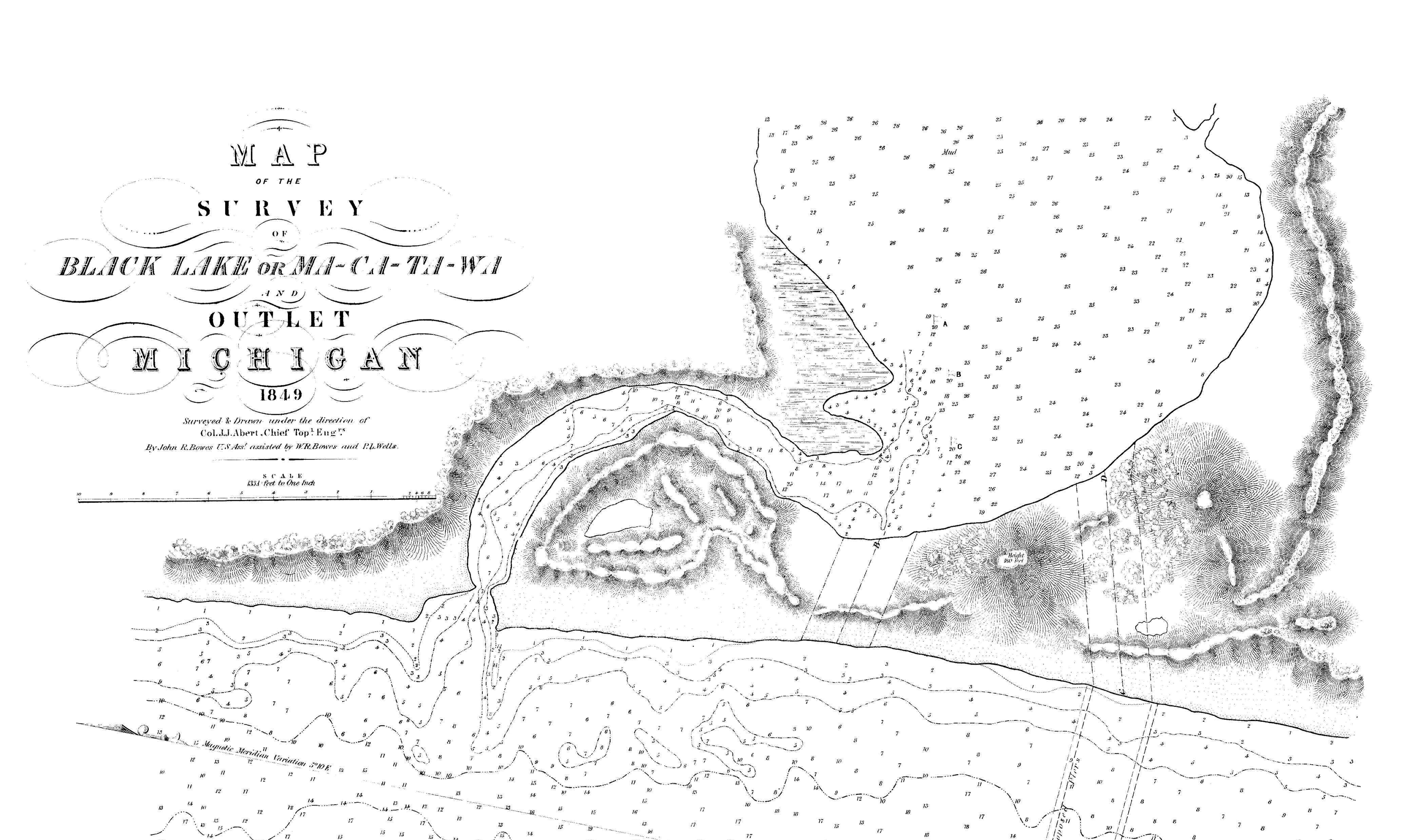 1849 Government Harbor Survey, Courtesy HOBS