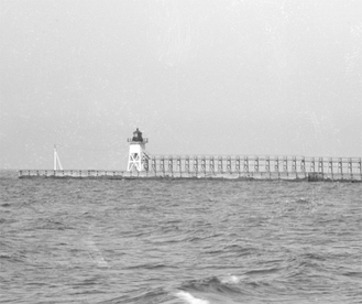 Original wooden Lighthouse circa 1901