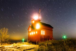 Big Red night glow